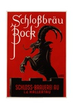 Schlossbrau Bock Beer Advertisement Poster Giclée par O.V. Kress