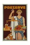 Preserve War Effort Poster with Figure of Justice