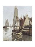 Sailboat at Honfleur Giclée par Claude Monet