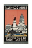 Buenos Aires by Royal Mail to South America Poster