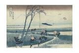 A Sudden Gust of Wind Giclée par Katsushika Hokusai