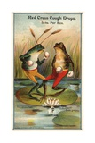 Frog Versus Toad Red Cross Cough Drops Advertisement Giclée