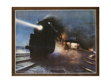 Pass in the Night  the Twentieth Century Limited of the New York Central Lines Poster