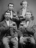 Four Guys and their Mugs of Beer  Ca 1880