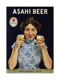 Asahi Beer Poster with Machiko Kyo Giclée