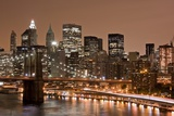 Brooklyn Bridge and Manhattan Skyline  New York City