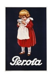 Perola Hot Chocolate Advertisement Poster