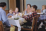 Family Eating at the Dinner Table