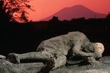 Cast of Pompeiian Victim of Mount Vesuvius