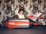 Young Boy Plays in a Cardboard Rocketship  Ca 1956