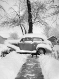 Snowy Scene in Illinois  Ca 1940