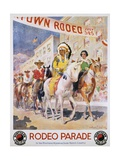 Rodeo Parade Northern Pacific Railroad Poster