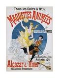 Maquettes Animees De Georges Bertrand Poster Giclée par Jules Chéret