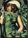 Young Lady with Gloves Tableau sur toile par Tamara De Lempicka