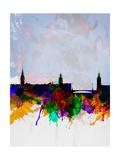 Stockholm Watercolor Skyline
