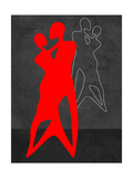 Red Couple Dance