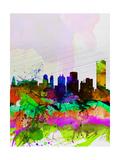 Buffalo Watercolor Skyline