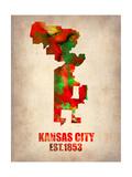 Kansas City Watercolor Map