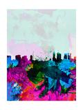 Melbourne Watercolor Skyline
