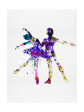 Ballet Dancers Watercolor 2