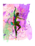 Ballerina Dancing Watercolor 1