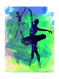 Two Dancing Ballerinas Watercolor 3