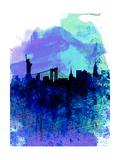 New York Watercolor Skyline 2