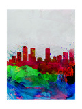 Denver Watercolor Skyline