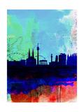 Vienna Watercolor Skyline