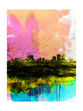 Anchorage Watercolor Skyline