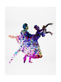 Ballet Dancers Watercolor 1