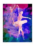 Two Dancing Ballerinas Watercolor 1