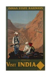 Visit India - Indian State Railways  Khyber Pass Poster
