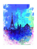 Paris Watercolor Skyline