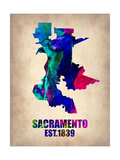 Sacramento Watercolor Map