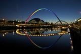 Gateshead Quays with Sage Gateshead and Millennium Bridge at Night