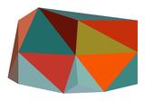 Triangulations n°1, 2013 Sérigraphie par Henri Boissiere