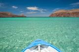 Little Boat in the Turquoise Waters at Isla Espiritu Santo  Baja California  Mexico  North America