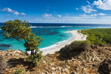 View over the Turquoise Waters of Barbuda Papier Photo par Michael Runkel