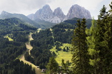 The Dramatic Sassolungo Mountains in the Dolomites Near Canazei  Trentino-Alto Adige  Italy  Europe