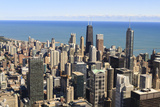 Chicago City Skyline and Lake Michigan  Chicago  Illinois  United States of America  North America
