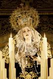 Image of Virgin Mary on Float (Pasos) Carried During Semana Santa (Holy Week)