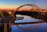 Cumberland River and Gateway Bridge  Nashville  Tennessee  United States of America  North America