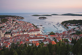 Hvar Town at Sunset Taken from the Spanish Fortress (Fortica)