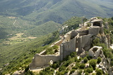 Chateau De Peyrepertuse  a Cathar Castle  Languedoc  France  Europe
