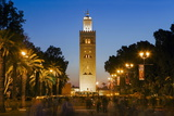 Djemaa El Fna and the 12th Century Koutoubia Mosque  Marrakech  Morocco  North Africa  Africa