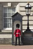 Grenadier Guardsman Outside Buckingham Palace  London  England  United Kingdom  Europe