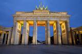 Brandenburg Gate at Night  Berlin  Germany  Europe