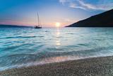 Adriatic Sea Off Zlatni Rat Beach at Sunset  Bol  Brac Island  Dalmatian Coast  Croatia  Europe