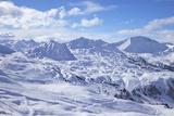 View of Slopes Near Belle Plagne  La Plagne  Savoie  French Alps  France  Europe